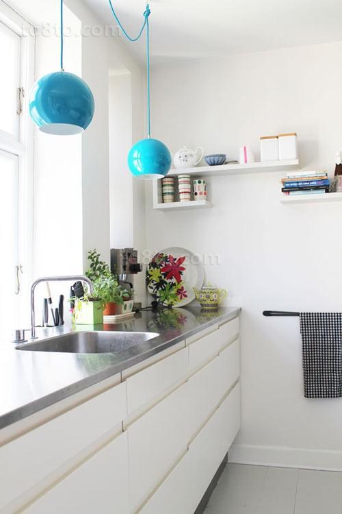 小复式楼青春动感的厨房装修效果图大全2014图片