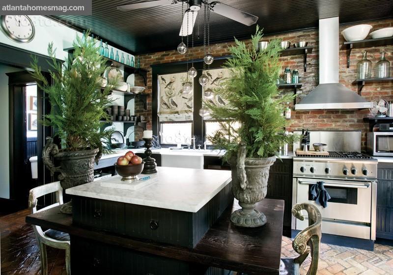乡村别墅家庭餐厅橱柜装修效果图大全2014图片