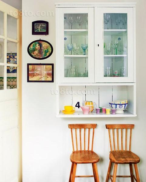 6万打造77平米现代简约风格厨房橱柜装修效果图大全2014图片