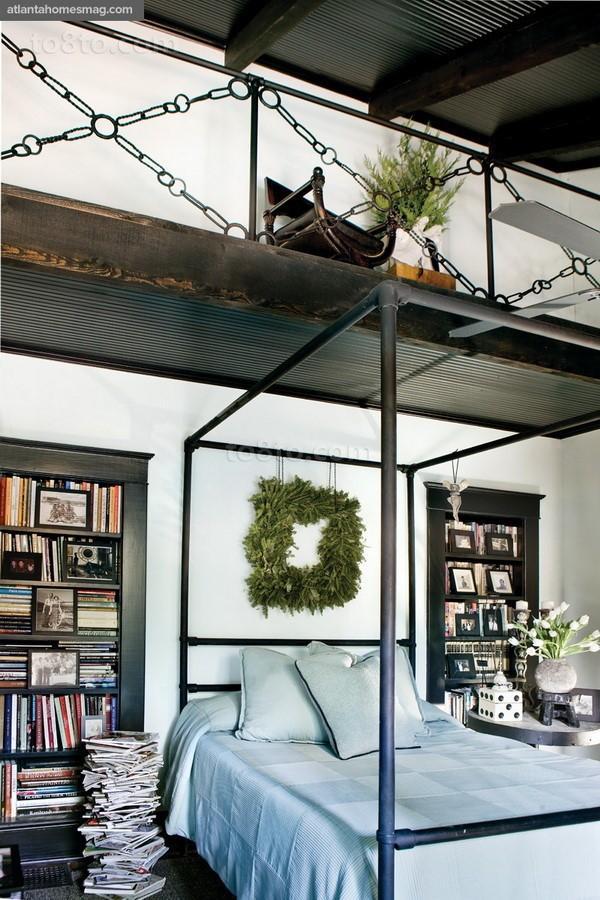 乡村别墅美式卧室餐厅吊顶装修效果图大全2014图片