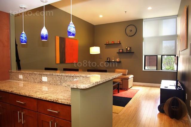 3万打造60平现代风格厨房隔断装修效果图大全2014大全