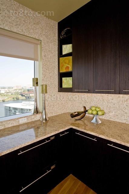 89平现代简约风格厨房装修效果图大全2013图片