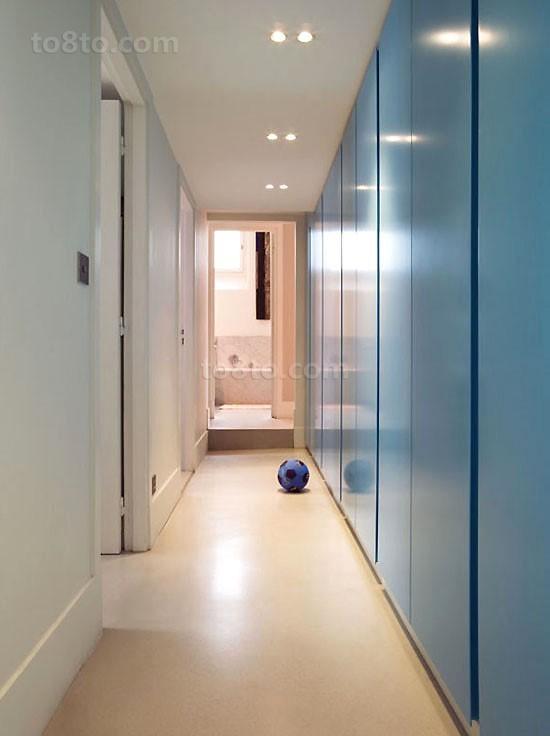 小复式蓝色玄关装修效果图大全2014图片