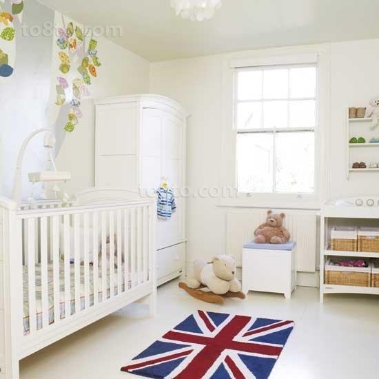 白色小清新宝宝儿童房装修效果图