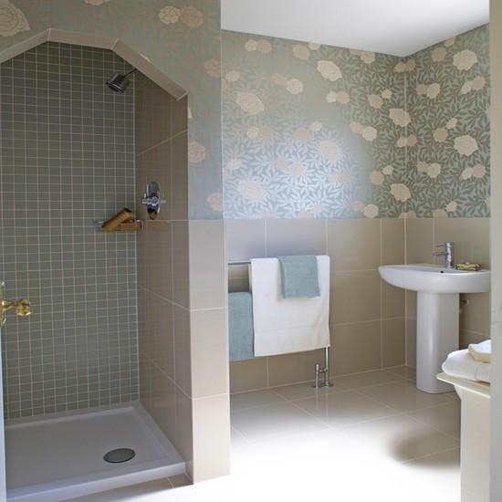 素雅清新的卫生间瓷砖效果图