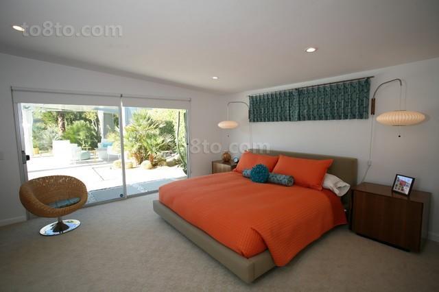 现代风格打造温馨农村别墅卧室装修效果图大全2012图片