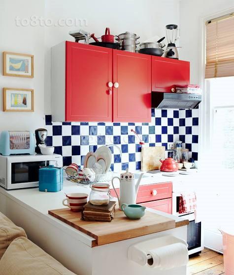 厨房黑白瓷砖效果图