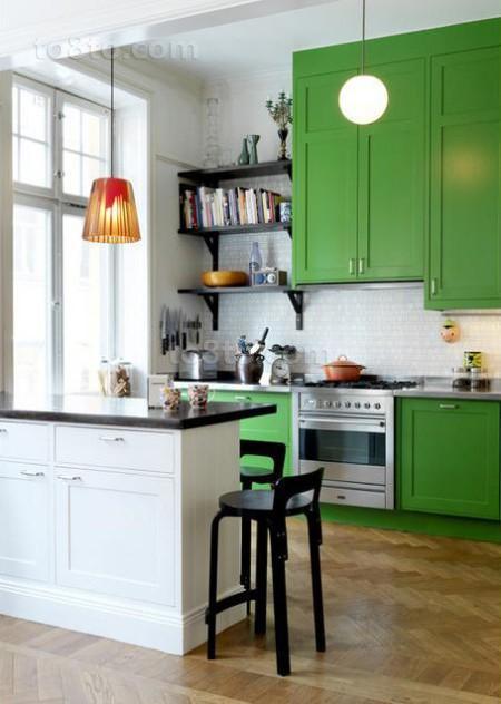 小户型田园风格厨房装修效果图大全2012图片