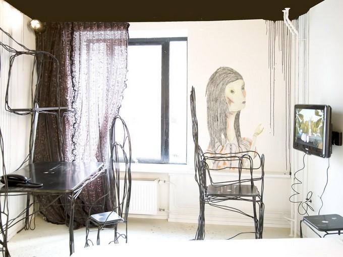 小户型文艺女青年创意的客厅电视背景墙装修效果图