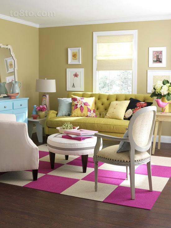 明朗的色彩打造小三居客厅装修效果图大全2014图片