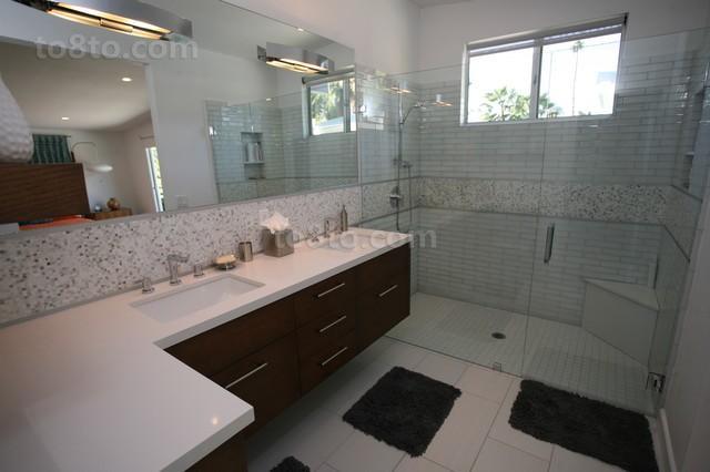 现代风格打造温馨农村别墅卫生间装修效果图大全2012图片