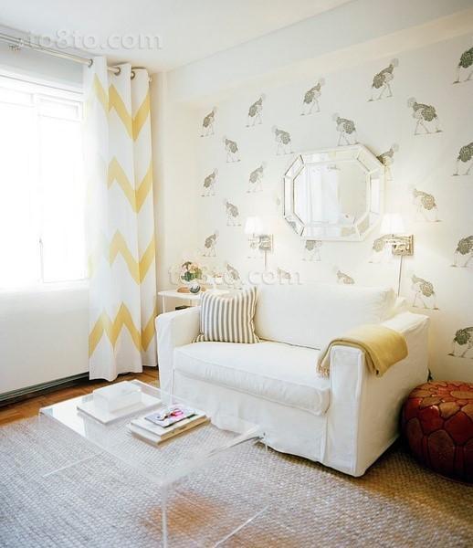 北欧小清新客厅沙发背景墙装修效果图