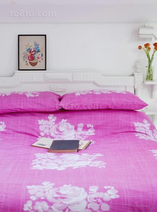 卧室花色床单图片