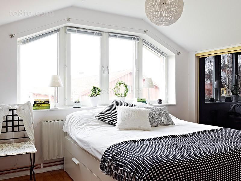 复式楼北欧清新的客厅飘窗装修效果图大全2012图片