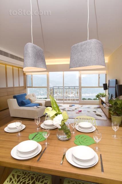 90平临海小户型餐厅装修效果图大全2012图片