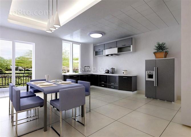 西岭华庭三居室餐厅吊顶装修效果图大全2012图片