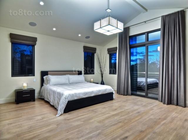 现代别墅主卧室装修效果图