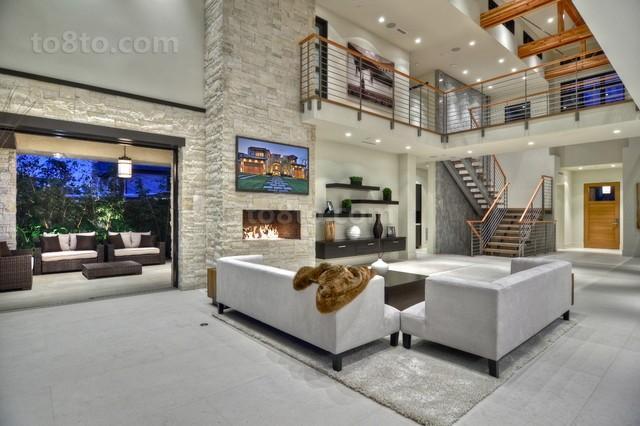 现代别墅客厅装修效果图大全