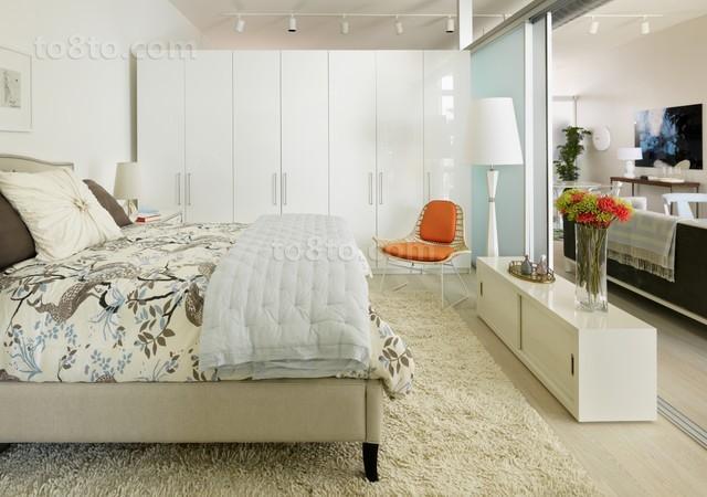 80平米小户型开放式卧室隔断装修设计