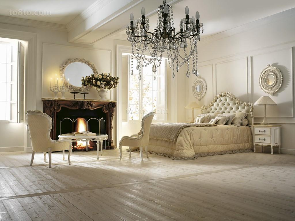 欧式别墅主卧室装修效果图片
