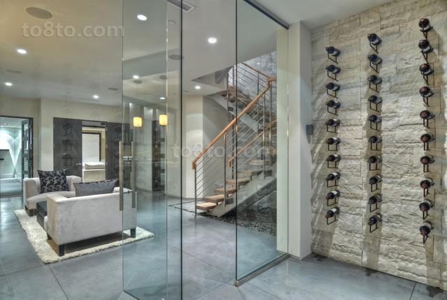 现代别墅进门玄关装修效果图