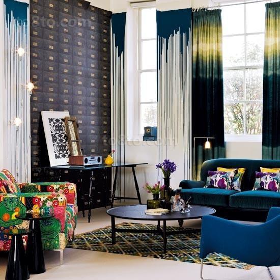 现代时尚的小户型客厅装修效果图大全2014图片