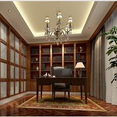 中式时尚书房设计效果图
