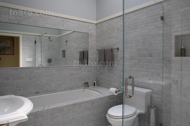 素雅的小户型卫生间装修效果图大全2014图片