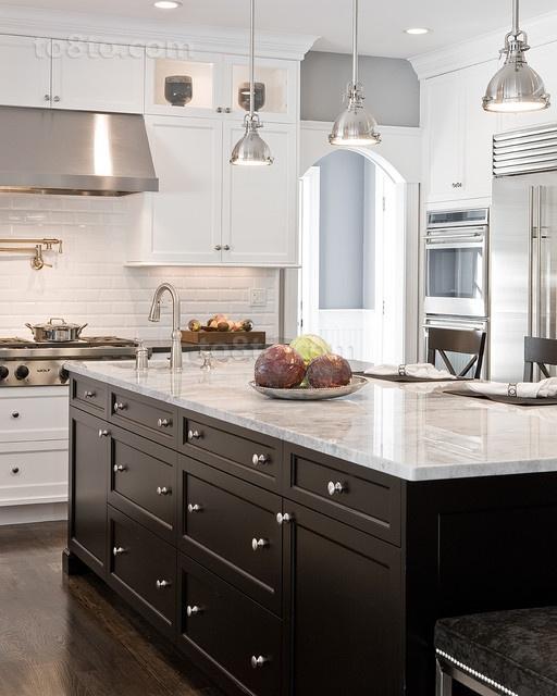 现代简约风格厨房橱柜装修效果图大全2014图片