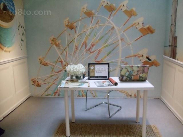 小户型创意童趣的书房装修效果图