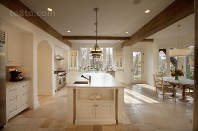 115平复式楼北欧小清新厨房橱柜装修效果图大全2014图片