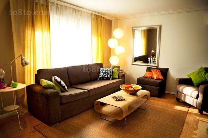 现代客厅窗帘装修效果图2014
