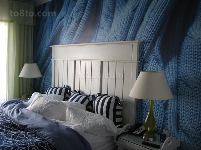 小户型创意卧室背景墙装修效果图大全2014图片