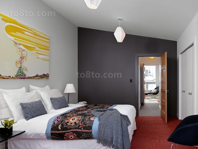 现代风格卧室背景墙二居装修效果图大全2014图片