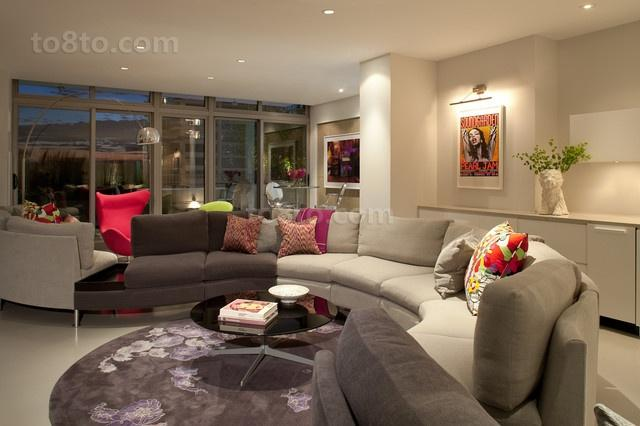 时尚现代简约风格客厅装修效果图大全2014