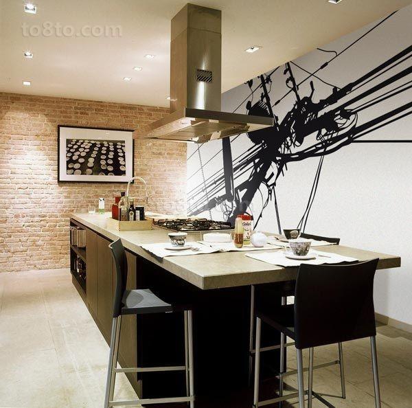 现代风格餐厅二居装修效果图大全2014图片