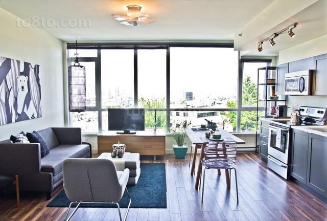 两室一厅现代风格客厅装修效果图