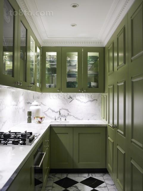 13万打造现代风格厨房小户型装修效果图大全2014图片