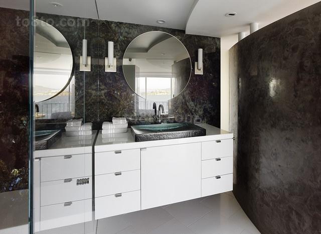 三室两厅现代卫生间装修效果图大全2012图片