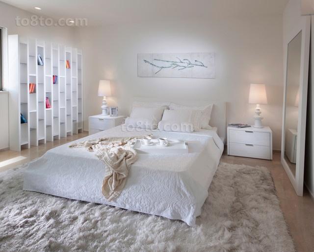 现代简约风格卧室装修效果图大全2014图片