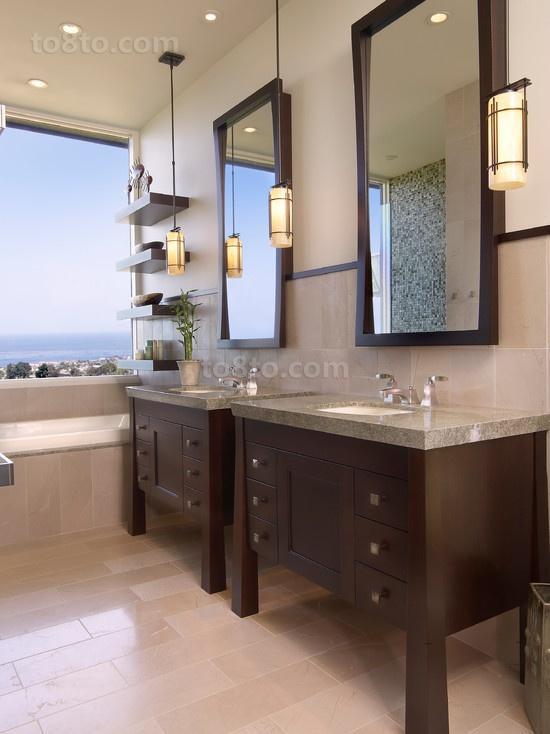 现代风格卫生间二居装修效果图大全2014图片
