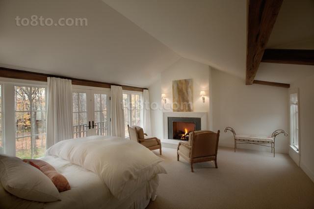 115平复式楼北欧小清新卧室窗帘装修效果图大全2014图片