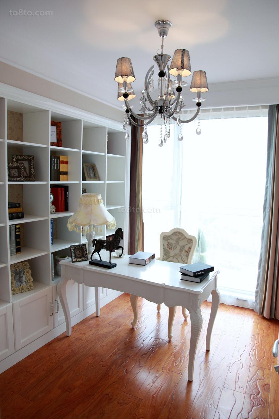 精选面积72平欧式二居书房欣赏图片大全