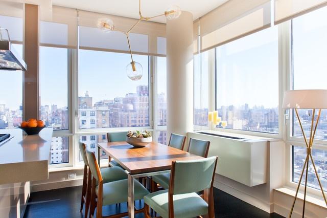 花半里小户型简约清新的餐厅飘窗装修效果图大全