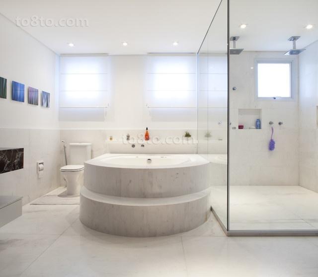 二居室现代风格卫生间装修效果图大全2014图片