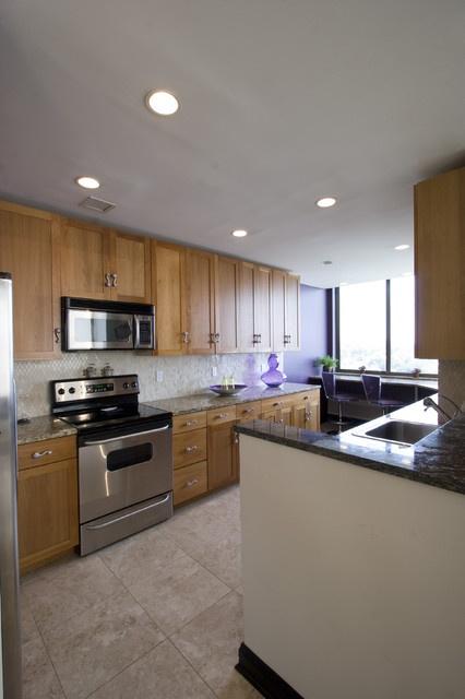 70平米小户型简约的厨房橱柜装修效果图大全2014图片