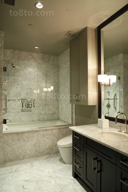 60平小户型美式风格装修卫生间效果图