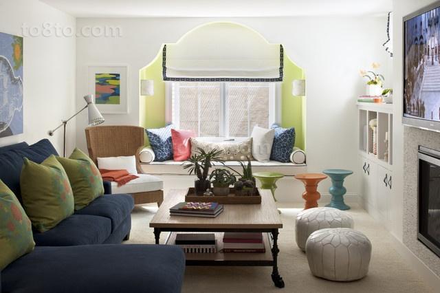 70㎡小户型温馨的客厅装修效果