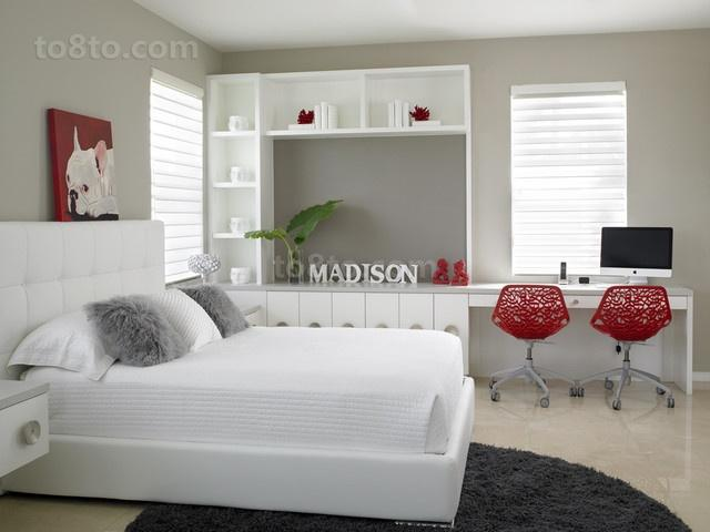 80后小户型浪漫婚房 简约的卧室装修效果图