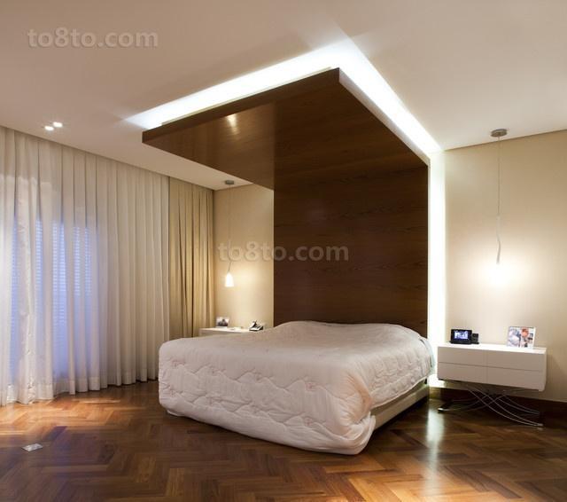 二居室现代风格卧室装修效果图大全2014图片